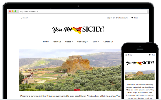 You Me & Sicily! New Website